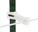 Gallagher Universal T-Post 5in Offset Insulator - White